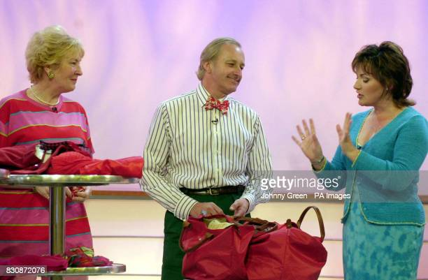 Neil and Christine Hamilton chat with GMTV's Lorraine Kelly on the set of GMTV in London Television Centre south Londo before a makeover which to...