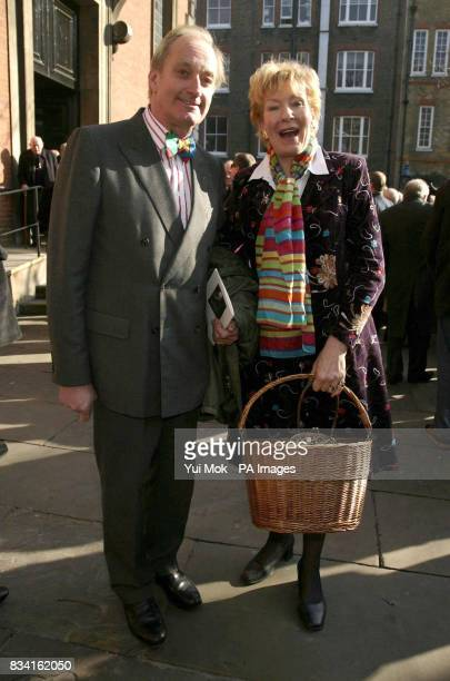 Neil and Christine Hamilton leave the memorial service for the late broadcaster Ned Sherrin CBE held at St Paul's Church in Covent Garden central...