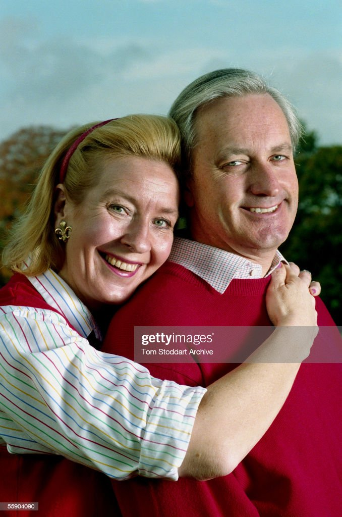 Neil and Christine Hamilton pictured together in their garden.