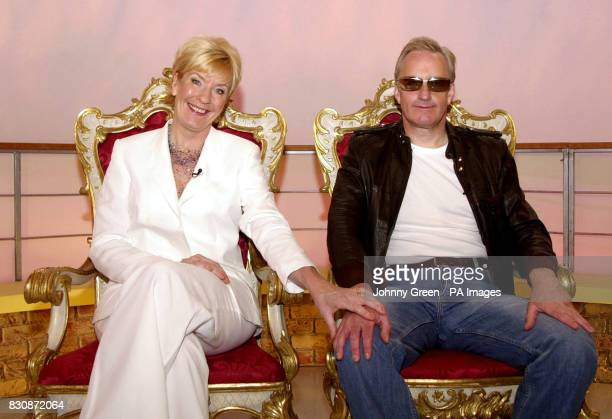 Neil and Christine Hamilton pose on the set of GMTV in London Television Centre south London following a makeover which attempted to transform the...