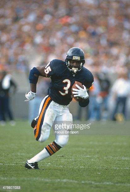 Neil Anderson of the Chicago Bears carries the ball against the Detroit Lions during an NFL Football game September 6 1992 at Soldier Field in...