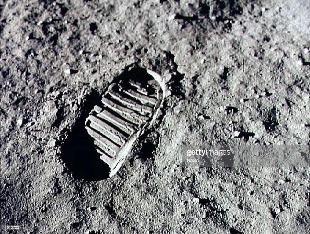 Neil Armstrong steps into history July 20, 1969 by leaving the first human footprint on the surface of the moon. The 30th anniversary of the Apollo 11 landing on the moon is being commemorated on July 20, 1999.