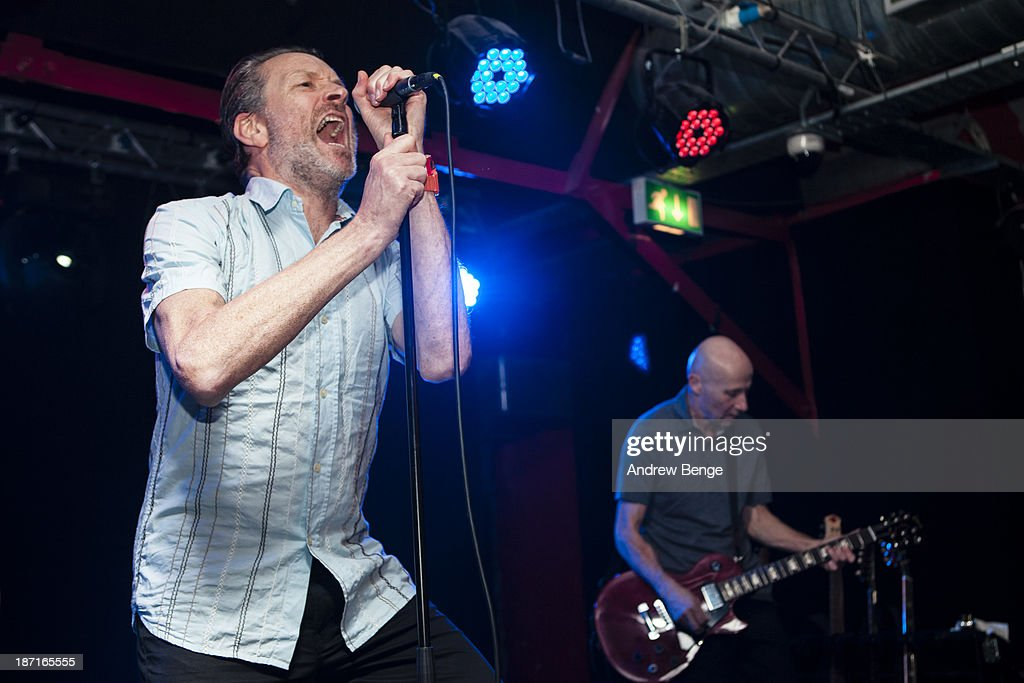 Neil Arthur and Stephen Luscombe of Blancmange perform on stage at Sound Control on November 6, 2013 in Manchester, United Kingdom.