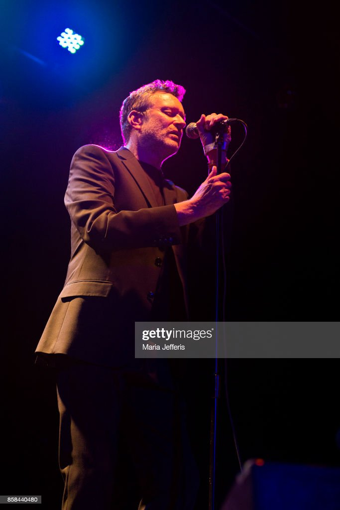 Neil Arthur of Blancmange performs at 229 Club on October 6, 2017 in London, England.