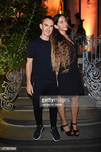 Neil Barrett and Benedetta Mazzini attend GQ Party for Jim Moore during Milan Menswear Fashion Week Spring/Summer 2016 at Casa Degli Atellani on June...