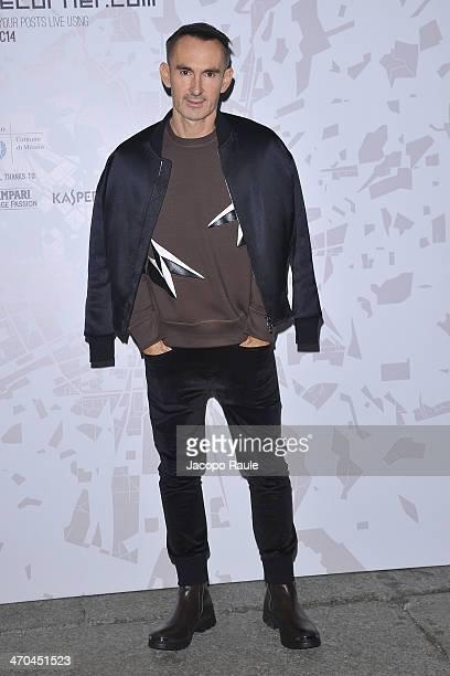 Neil Barrett attends The Vogue Talents Cornercom during Milan Fashion Week Womenswear Autumn/Winter 2014 on February 19 2014 in Milan Italy