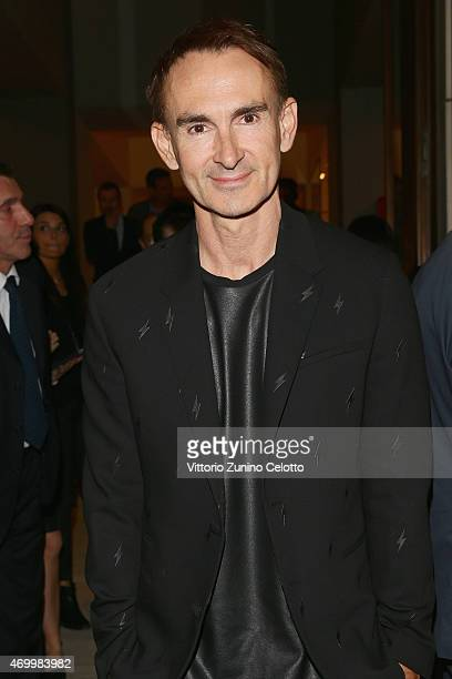 Neil Barrett attends #Valextra #MagneticoCocktail curated by Martino Gamper during Milan Design Week on April 16 2015 in Milan Italy