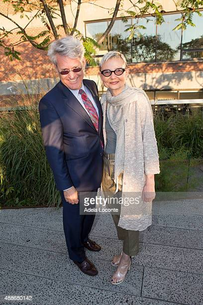 Neil Bender and Marika Bender attend the Anual Fundraising Event at Diller von Furstenberg Sundeck on September 16 2015 in New York City