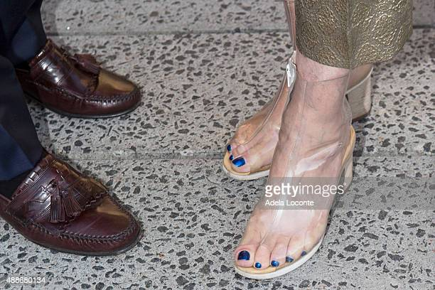 Neil Bender and Marika Bender's shoes attend the Anual Fundraising Event at Diller von Furstenberg Sundeck on September 16 2015 in New York City