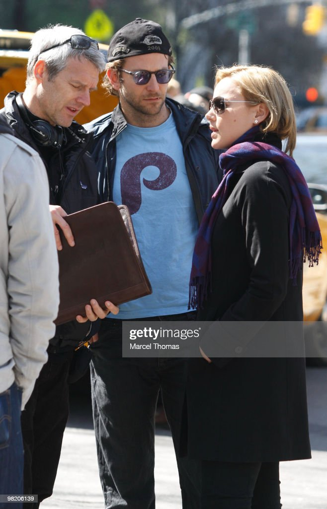 Neil Berger Bradley Cooper and Abbie Cornish film 'The Dark Fields' on location on 5th Avenue on April 1 2010 in New York New York