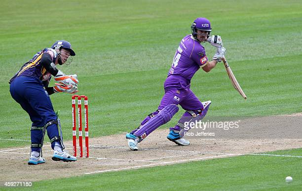 Neil Broom of Canterbury bats during the Georgie Pie Super Smash T20 match between the Otago Volts and the Canterbury Kings at University Oval on...