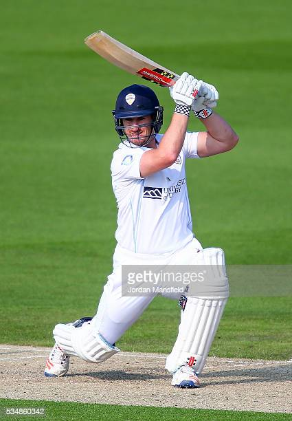 Neil Broom of Derbyshire bats during day one of the Specsavers County Championship Division Two match between Sussex and Derbyshire at The 1st...