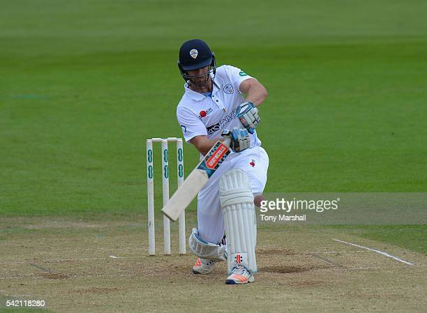 Neil Broom of Derbyshire bats during the Specsavers County Championship Division Two match between Derbyshire and Worcestershire at The 3aaa County...