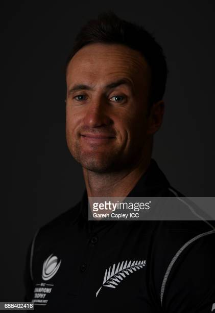 Neil Broom of New Zealand poses for a portrait at the team hotel on May 25 2017 in London England