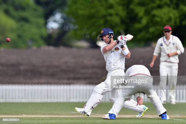 Neil Broom of Otago bats during the Plunket Shield match between Canterbury and the Otago Volts on October 26 2017 in Christchurch New Zealand
