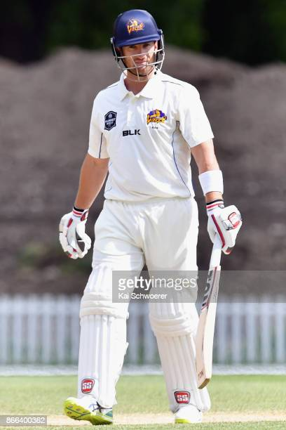Neil Broom of Otago looks on during the Plunket Shield match between Canterbury and the Otago Volts on October 26 2017 in Christchurch New Zealand