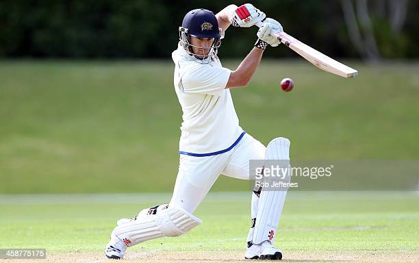 Neil Broom Ryder of Otago bats during day three of the Plunket Shield match between Otago and Central Districts on December 22 2013 in Dunedin New...