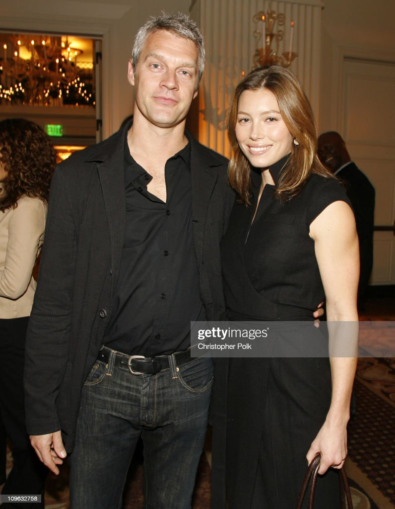 Neil Burger and Jessica Biel during Yari Film Group Holiday Cocktail Party November 27 2006 in Santa Monica California United States