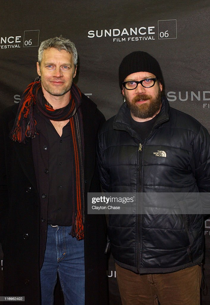 Neil Burger and Paul Giamatti during 2006 Sundance Film Festival 'The Illusionist' Premiere at Eccles in Park City Utah United States