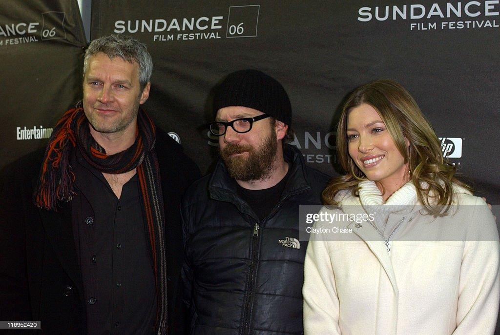 Neil Burger Paul Giamatti and Jessica Biel during 2006 Sundance Film Festival 'The Illusionist' Premiere at Eccles in Park City Utah United States