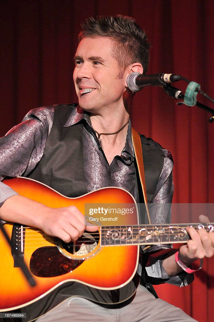 Neil Byrne of Celtic Thunder performs during an unplugged concert benefitting Hurricane Sandy victims at Sullivan Hall on December 3, 2012 in New York City.