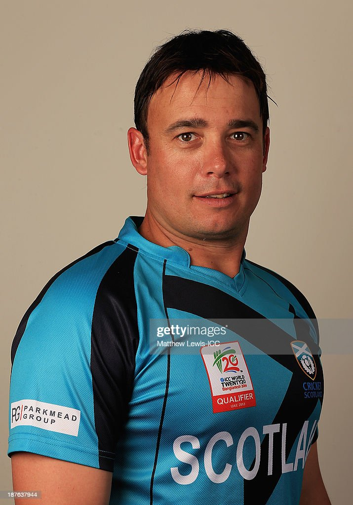 Neil Carter of Scotland pictured during a headshot session ahead of the ICC World Twenty20 Qualifiers on November 11, 2013 in Dubai, United Arab Emirates.