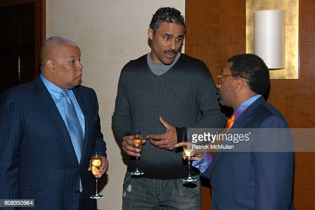 Neil Carter Rick Fox and Spike Lee attend SPIKE LEE Celebrates 50th Birthday with KRUG Champagne at DANIEL on March 19 2007 in New York City