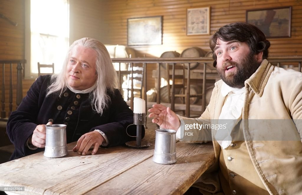 Neil Casey and John Gemberling in the 'The Shot Heard Round The World' episode of MAKING HISTORY airing Sunday, March12 (8:30-9:00 PM ET/PT) on FOX.