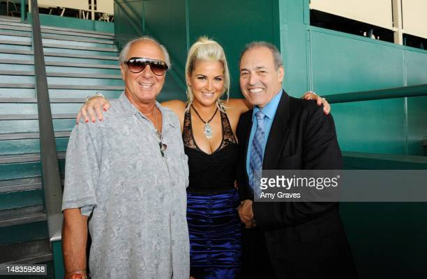 Neil Cohen Josie Goldberg and Phil Daniels attend the debut of reality TV star and playboy model Josie Goldberg's personal race horse at Hollywood...