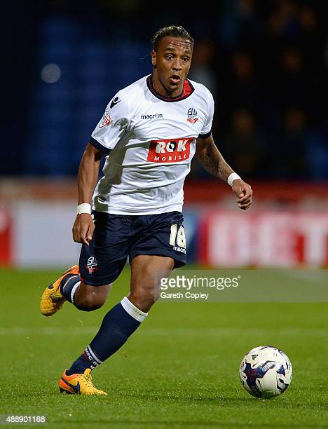 Neil Danns of Bolton during the Sky Bet Championship match between Bolton Wanderers and Sheffield Wednesday at Reebok Stadium on September 15 2015 in...