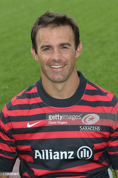 Neil de Kock of Saracens poses for a portrait at the photocall held at Allianz Park on August 6 2013 in Barnet England