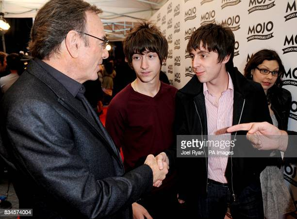 Neil Diamond and The Last Shadow Puppets Alex Turner amd Miles Kane arrive for the Mojo Honours List award ceremony at The Brewery east London