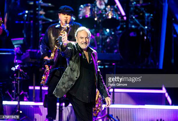 Neil Diamond performs at The SSE Hydro on July 7 2015 in Glasgow United Kingdom
