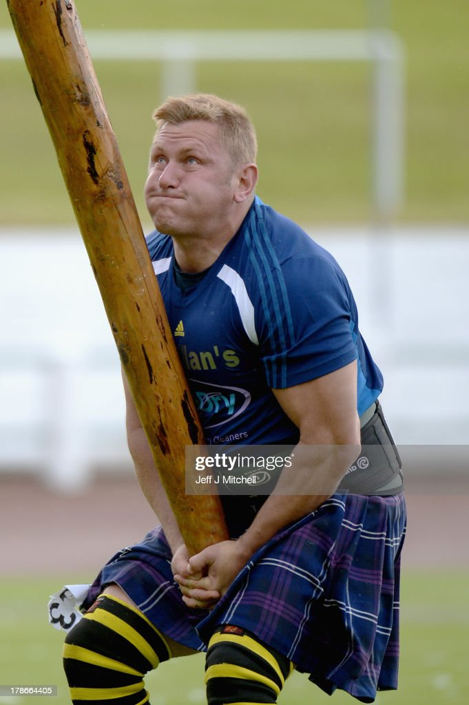 Neil Elliot competes during the heavy event at the Cowal Highland Gathering on August 30, 2013 in Dunoon, Scotland. First held in 1894, the Cowal Games are held over three days and are one of the largest in the world attracting competitors from Canada, USA, South Africa, Australia and New Zealand.