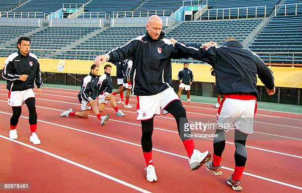 Neil Emblen of Waitakere United in action during the official training session at the National Stadium on December 10 2008 in Tokyo Japan The Oceania...