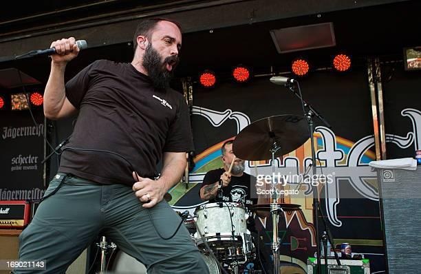 Neil Fallon of Clutch performs during 2013 Rock On The Range at Columbus Crew Stadium on May 18 2013 in Columbus Ohio