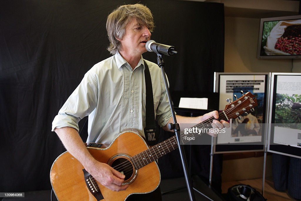 "Neil Finn Performs at Esquires Cafe in Auckland  to Support Oxfam's ""Make Trade Fair"" Campaign - February 9, 2006"