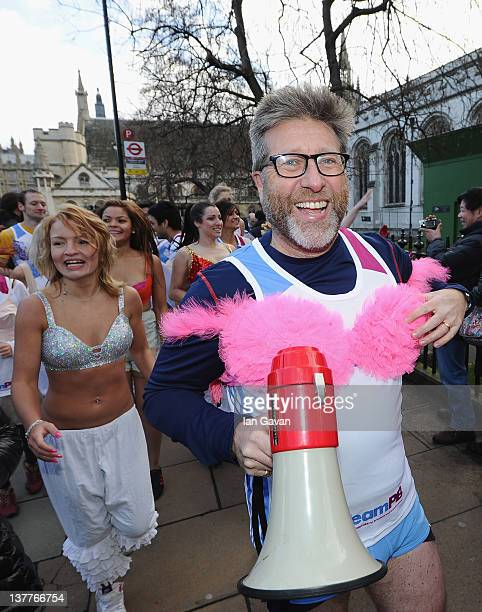 Neil Fox smiles outside the Houses of Parliment during the Team Pants And Bra photcall at Westminster on January 26 2012 in London England Team Pants...