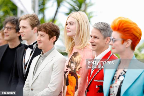Neil Gaiman Aj Lewis Alex Sharp Elle Fanning John Cameron Mitchell and Sandy Powell attend the 'How To Talk To Girls At Parties' photocall during the...