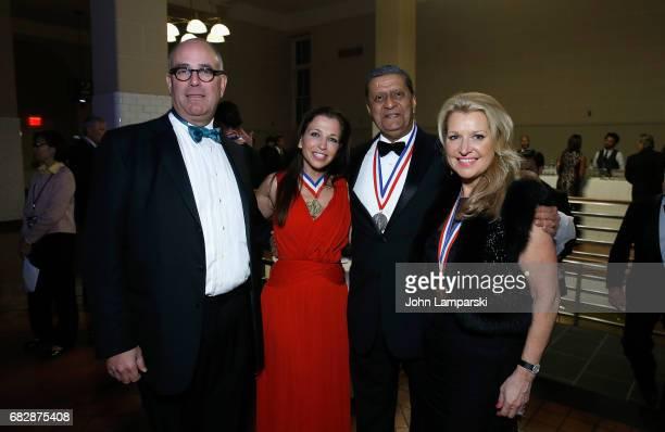 Neil Grossman Wendy Diamond and the recipient of international award Global Partnerships Forum Amir A Dossal FCA Chairman of HSNi Mindy Grossman...