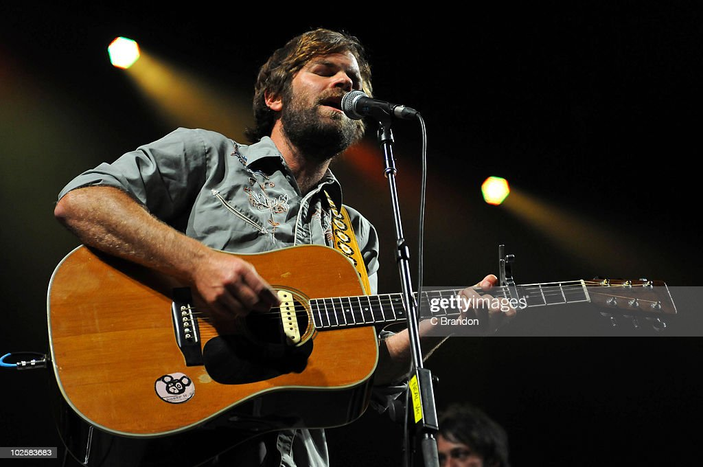 Neil Halstead of Mojave 3 performs on stage at O2 Arena on June 30, 2010 in London, England.