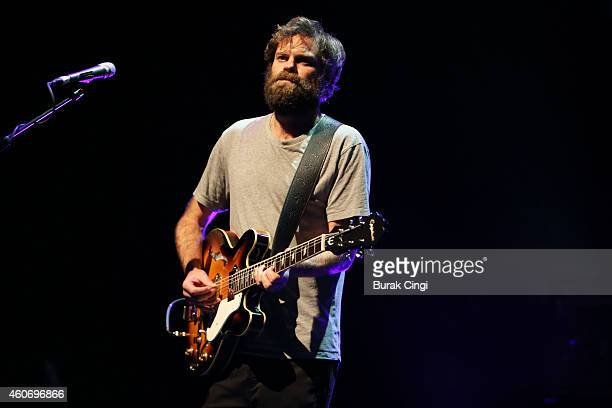 Neil Halstead of Slowdive performs on stage at The Forum on December 19 2014 in London United Kingdom