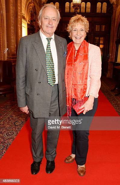 Neil Hamilton and Christine Hamilton attend an after party following the press night performance of 'Handbagged' at the Royal Horseguards hotel on...