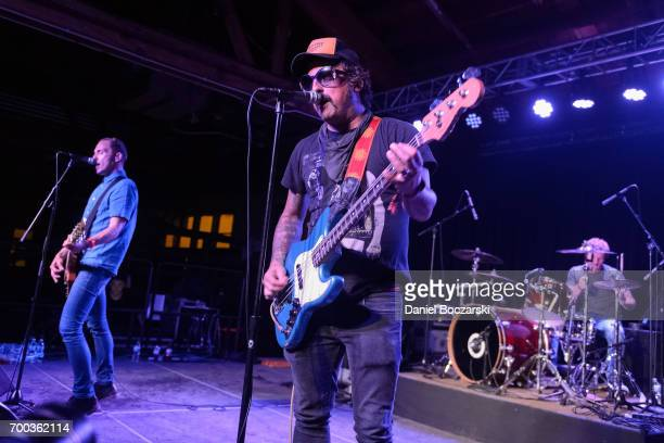 Neil Hennessy Brendan Kelly and Chris McCaughan of Lawrence Arms perform at House of Vans Chicago on June 22 2017 in Chicago Illinois