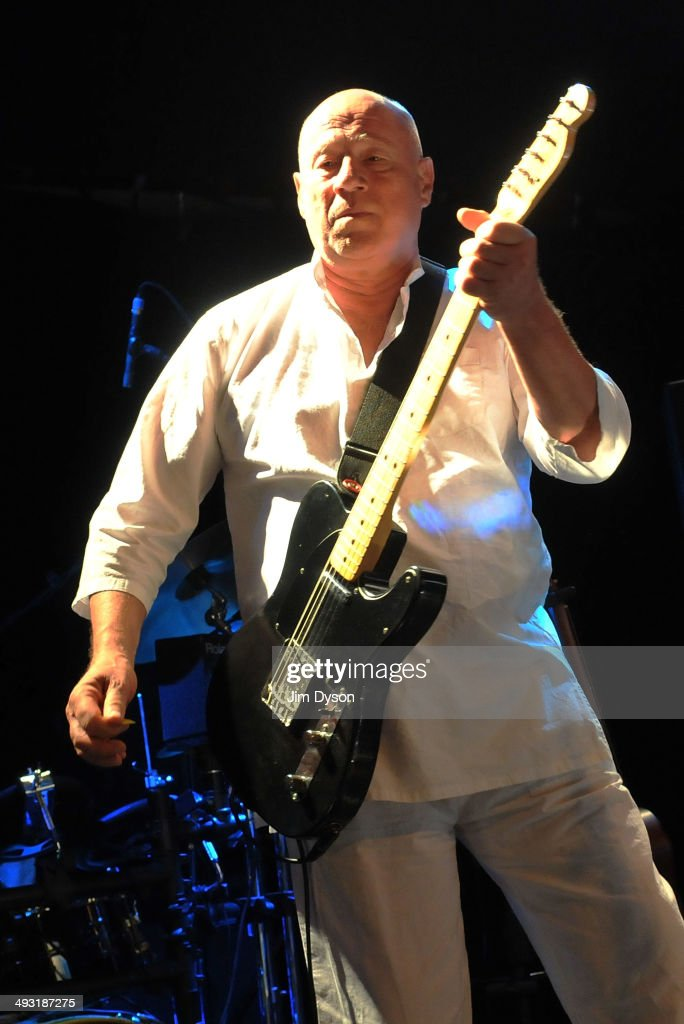 <a gi-track='captionPersonalityLinkClicked' href=/galleries/search?phrase=Neil+Innes&family=editorial&specificpeople=1572091 ng-click='$event.stopPropagation()'>Neil Innes</a>, as Ron Nasty, of The Rutles performs live on stage at the Islington Academy on May 22, 2014 in London, United Kingdom.