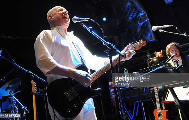 Neil Innes as Ron Nasty of The Rutles performs live on stage at the Islington Academy on May 22 2014 in London United Kingdom