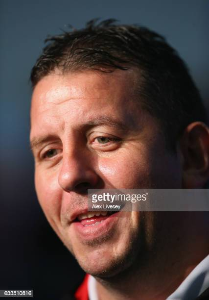 Neil Jukes the coach of Leigh Centurions faces the media during the Rugby League 2017 Season Launch at Leigh Sports Village on February 2 2017 in...