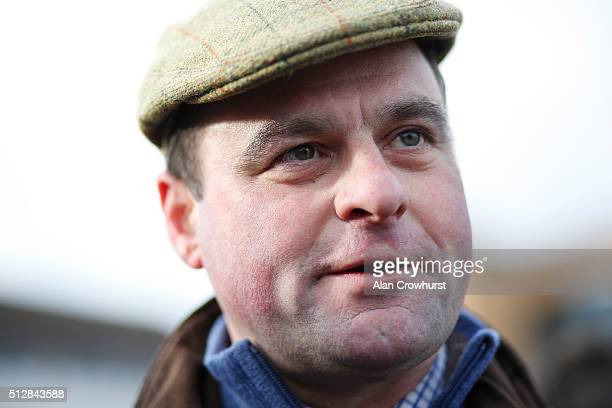 Neil King poses at Fontwell racecourse on February 28 2016 in Fontwell England