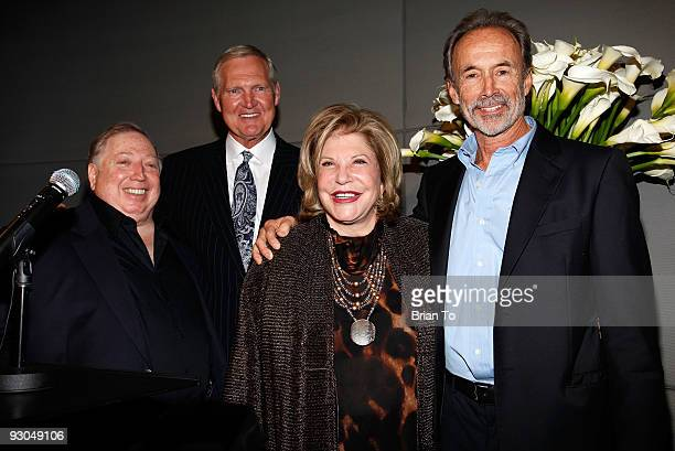 Neil Leifer Jerry West Wallis Annenberg and Walter Iooss attend 'Sport Iooss and Leifer' Exhibit Opening at The Annenberg Space For Photography on...
