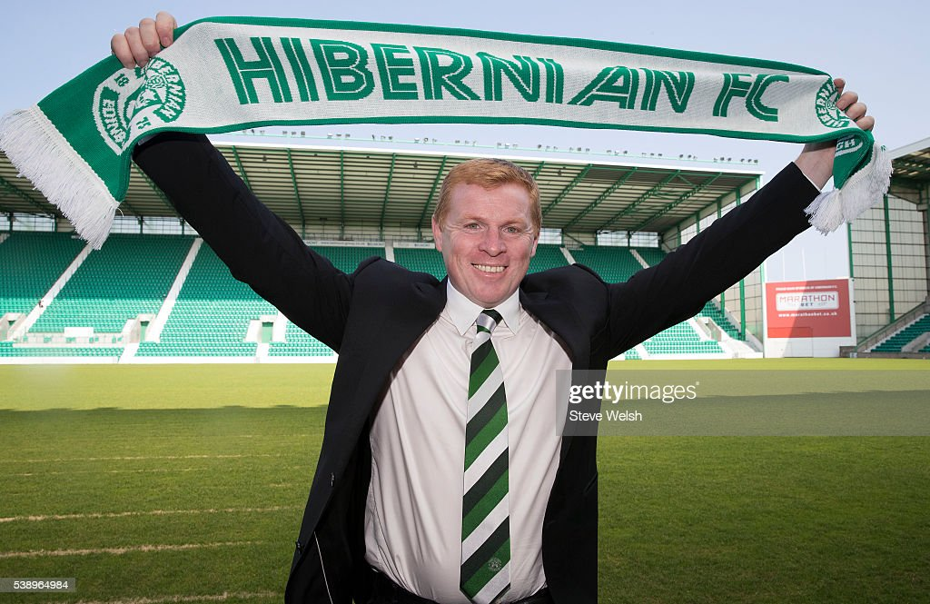 Neil Lennon is unveiled as the new Hibernian Manager at Easter Road on June 09 2016 in Edinburgh United Kingdom